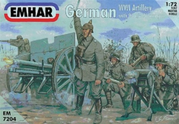 WWI German Artillery with 96 nA 77