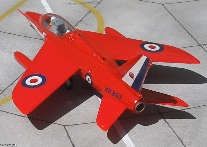 Folland Gnat Red Arrows