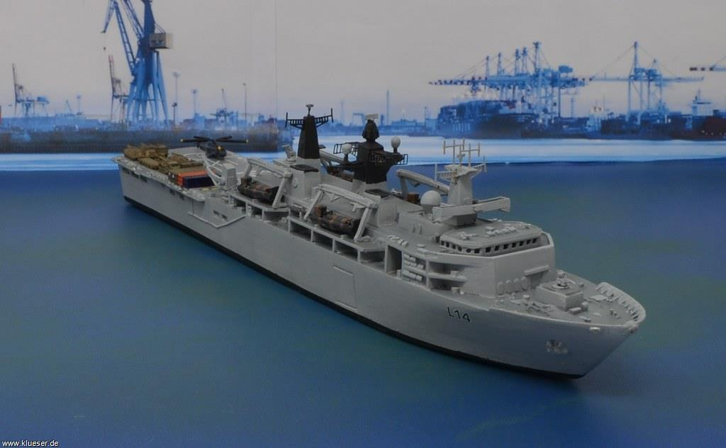 HMS Albion L14 LPD, LCU Mk.10, US Support Set 1/700