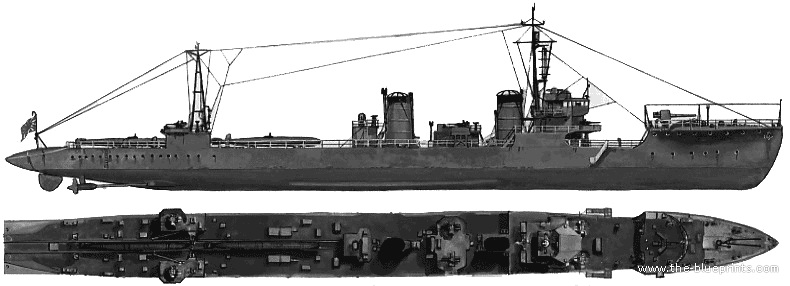 "Source & terms of use: <a href=""http://www.the-blueprints.com/blueprints/ships/destroyers-japan/15107/viewsingle/ijn_namikaze_(destroyer)_(1945)/"" target=""_blank"">http://www.the-blueprints.com/blueprints/ships/destroyers-japan/15107/viewsingle/ijn_namikaze_(destroyer)_(1945)/</a>  (needs registration)"
