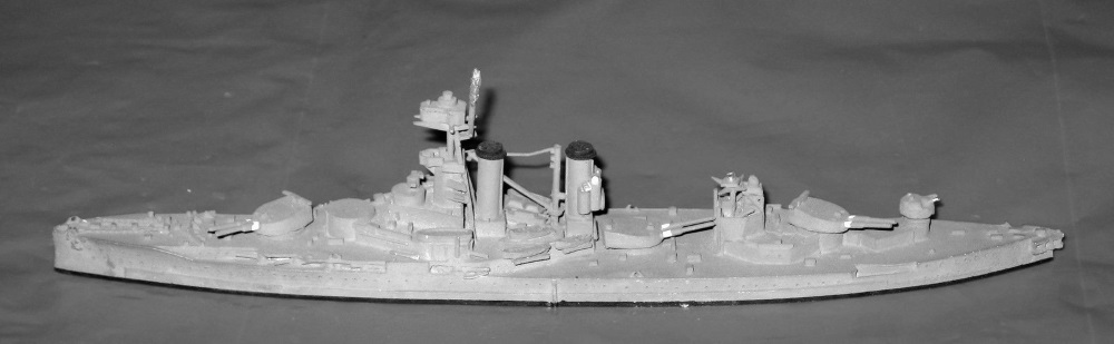 In the 30s as Gunnery Training ship. 1/1250 by Argonaut.