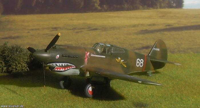 Curtiss P40B Tomahawk Flying Tiger