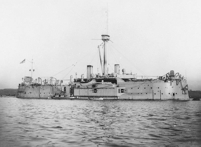 "Armoured frigate SMS Kaiser after 1905 was converted to depot ship Uranus.<br><br>Source: <a href=""http://www.facebook.com/635289493206597/photos/a.635291423206404.1073741828.635289493206597/1028194960582713/?type=3&theater"" target=""_blank"">http://www.facebook.com/635289493206597/photos/a.635291423206404.1073741828.635289493206597/1028194960582713/?type=3&theater</a>"