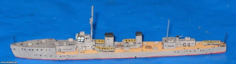 Momi class Destroyer Sumire became training ship Mitaka. Model by Uwe Hoppe